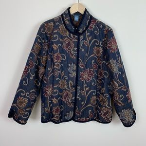 Napa 18w woman floral tapestry jacket